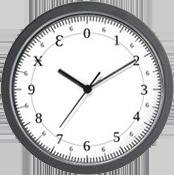 A duodecimal or dozenal clock